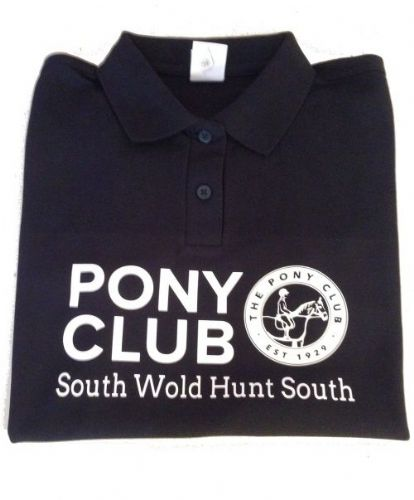 CHILD South Wold Hunt South Branch Navy  Polo Shirt
